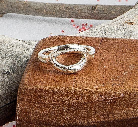R122SOR Anillo textura oval