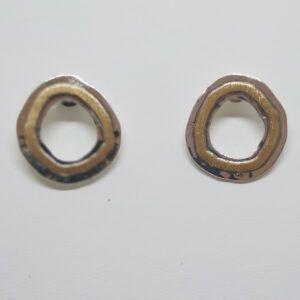 R318auPP-300x300 Pendiente redondo con oro