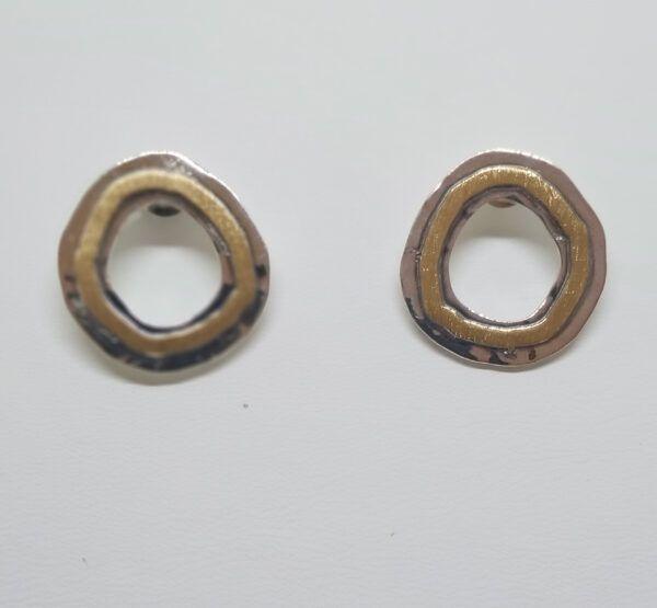 R318auPP-600x555 Pendiente redondo con oro