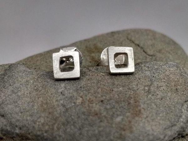 R300PP-600x450 Pendientes Minimal cuadrado pequeño
