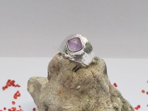R335SOR-3-600x450 Anillo Gem ancho piedra cuadrada pequeña