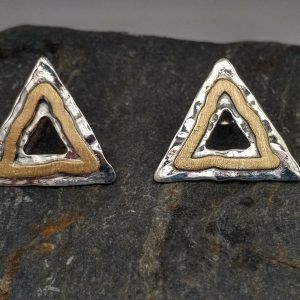 R320PP-AU-300x300 Pendientes Geometrix triángulo con oro
