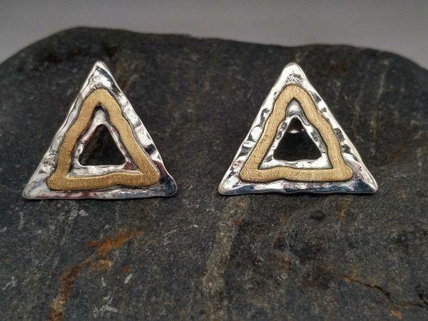 R320PP-AU-600x450 Pendientes Geometrix triángulo con oro